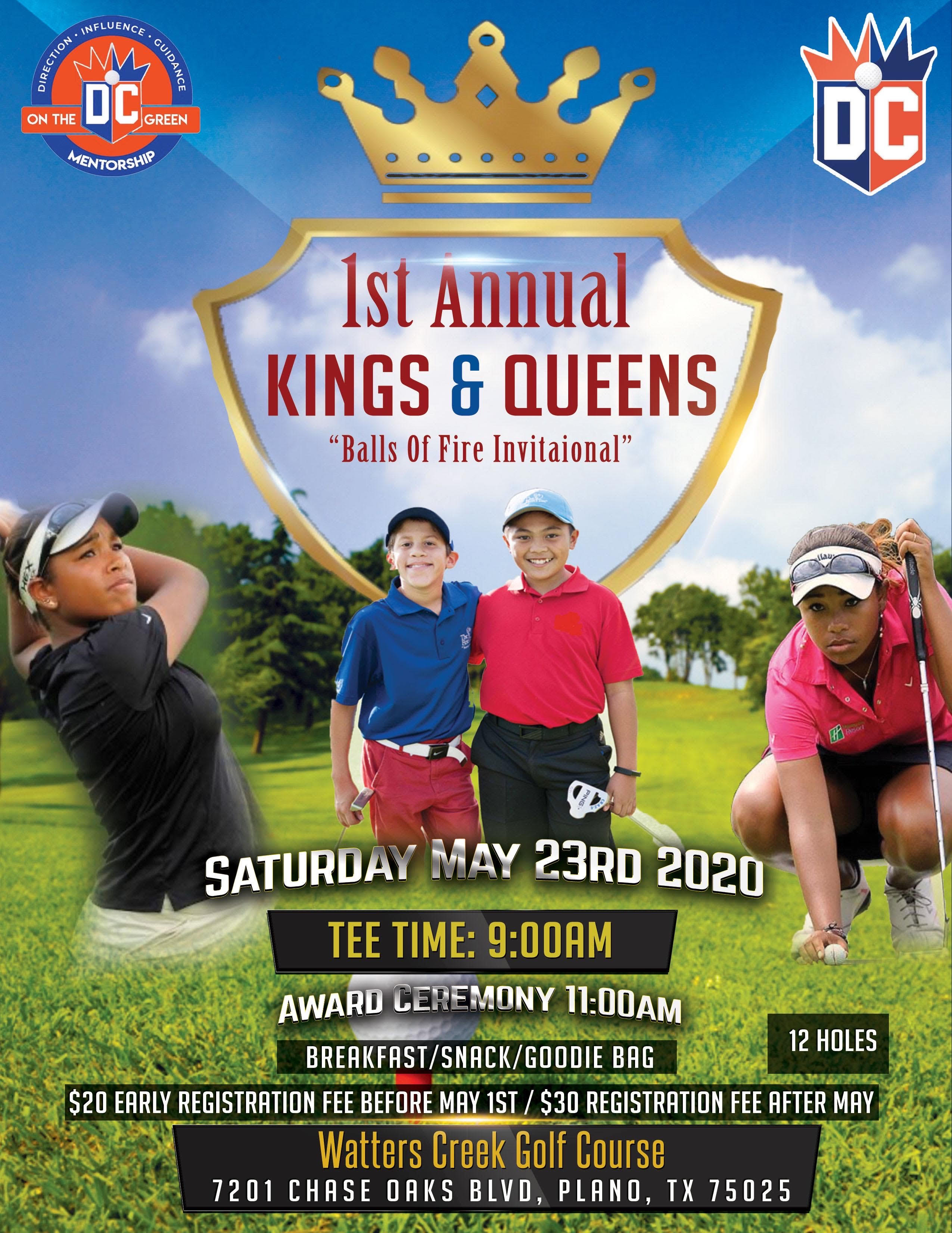 1st Annual Golf Tournament Youth - May 23rd
